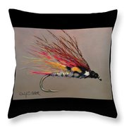 The Little Brown Trout Throw Pillow