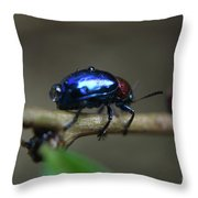 The Little Bug In The Rain Throw Pillow