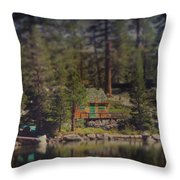 The Little Cabin Throw Pillow