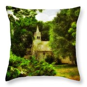 The Little Church On The Corner Throw Pillow