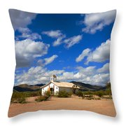 The Little Country Church Throw Pillow