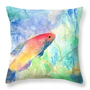 The Little Fish Throw Pillow