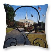 The Little Framed Church Throw Pillow
