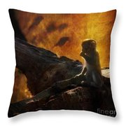 The Little Golumn Throw Pillow