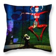 The Little Puppet Master Throw Pillow