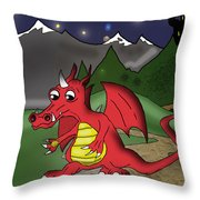 The Little Red Dragon Throw Pillow