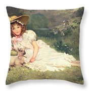 The Little Shepherdess Throw Pillow