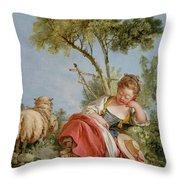 The Little Shepherdess Throw Pillow