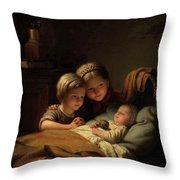 The Little Sleeping Brother Throw Pillow