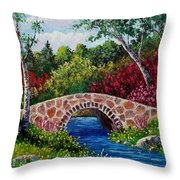 The Little Stone Bridge Throw Pillow