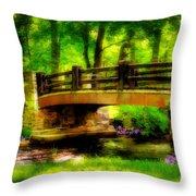 The Little Stone Bridge Throw Pillow