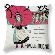 The Little Thumbelina 1891 Throw Pillow