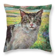 The Little Visitor Throw Pillow