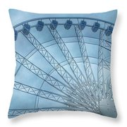 The Liverpool Wheel In Blues 2 Throw Pillow