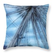 The Liverpool Wheel In Blues 3 Throw Pillow