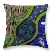 The Living Marshes Throw Pillow