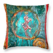 The Lizard King Throw Pillow by Patricia Allingham Carlson