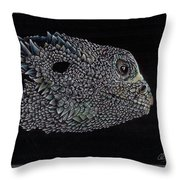 The Lizzard Throw Pillow