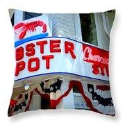 The Lobster Pot #1 Throw Pillow