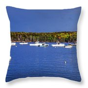 The Lobstering Armada Throw Pillow