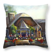The Local Grill And Scoop Throw Pillow