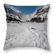 The Loch Under Snow Throw Pillow