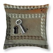The Lock Box Throw Pillow