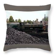 The Locomotive Yard Throw Pillow