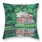 The Lodge At Peaks Of Otter Throw Pillow by Kendall Kessler