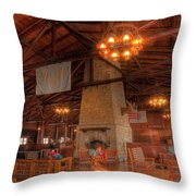 The Lodge At Starved Rock State Park Illinois Throw Pillow