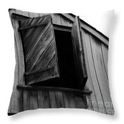 The Loft Door In Black And White Throw Pillow