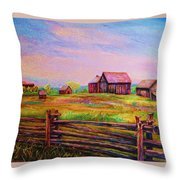 The Log Fence Throw Pillow