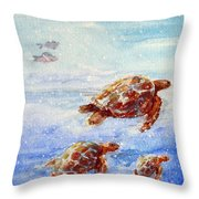 The Loggerheads Catch The Currents Throw Pillow