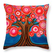 The Lollipop Tree Throw Pillow