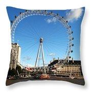 The London Eye 2 Throw Pillow