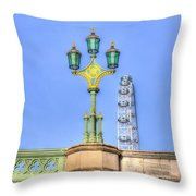 The London Eye And Westminster Bridge Throw Pillow
