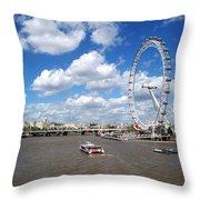 The London Eye Throw Pillow