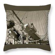 The London Eye In Sepia Throw Pillow