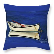 The Lone Boat Throw Pillow