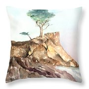 The Lone Cypress-monterey Ca Throw Pillow
