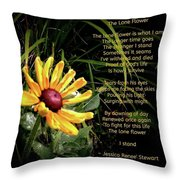 The Lone Flower Throw Pillow