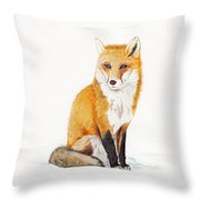The Lone Fox Throw Pillow