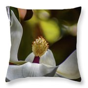 The Lone Lotus Throw Pillow