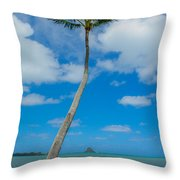 The Lone Palm Throw Pillow