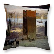 The Lone Tenement Throw Pillow