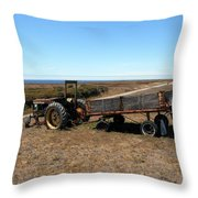 The Lone Wagon Throw Pillow