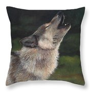 The Lone Wolf Throw Pillow
