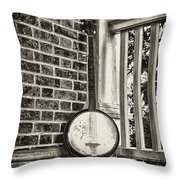 The Lonely Banjo Throw Pillow