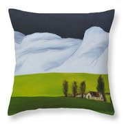 The Lonely Farm Throw Pillow