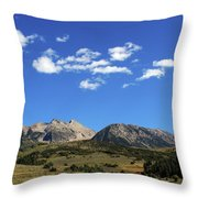 The Lonely Mountains Throw Pillow